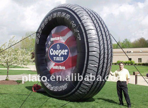 Advertising tyre inflatable model,custom print inflatable tire