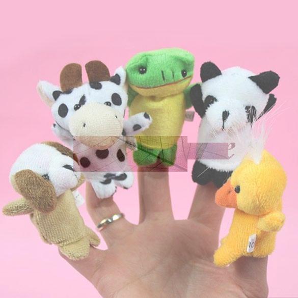 לו 10x קריקטורה ביולוגית חיה האצבע בובת צעצועי קטיפה ילד תינוק טובה בובות