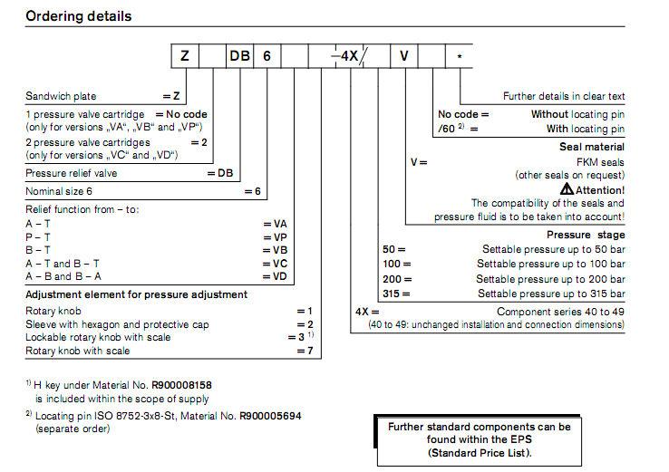 Rexroth Pressure relief valve ZDB 6VP2-42/315V