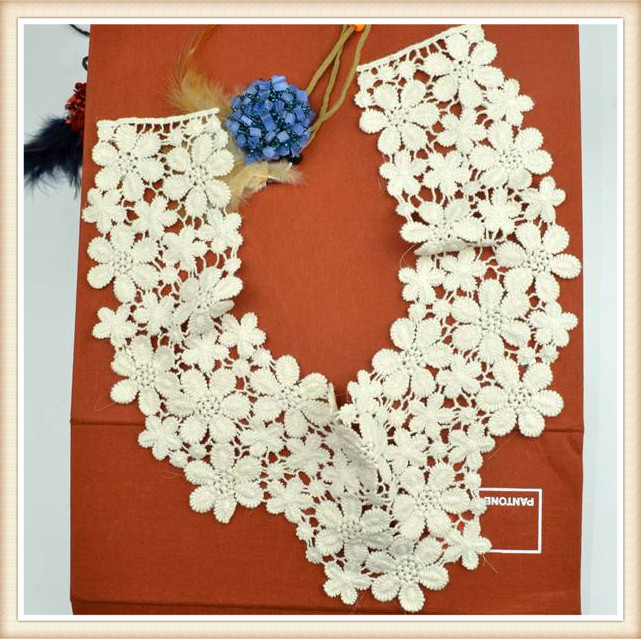 100 Cotton Hand Embroidery Designs Neck For Flower Shape Made In