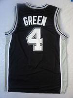 4 # Дэнни зеленый Джерси ретро throwback баскетбол трикотажные изделия Сан-Антонио-Джерси, chritmas Джерси, черно-белый, размер s-3xl