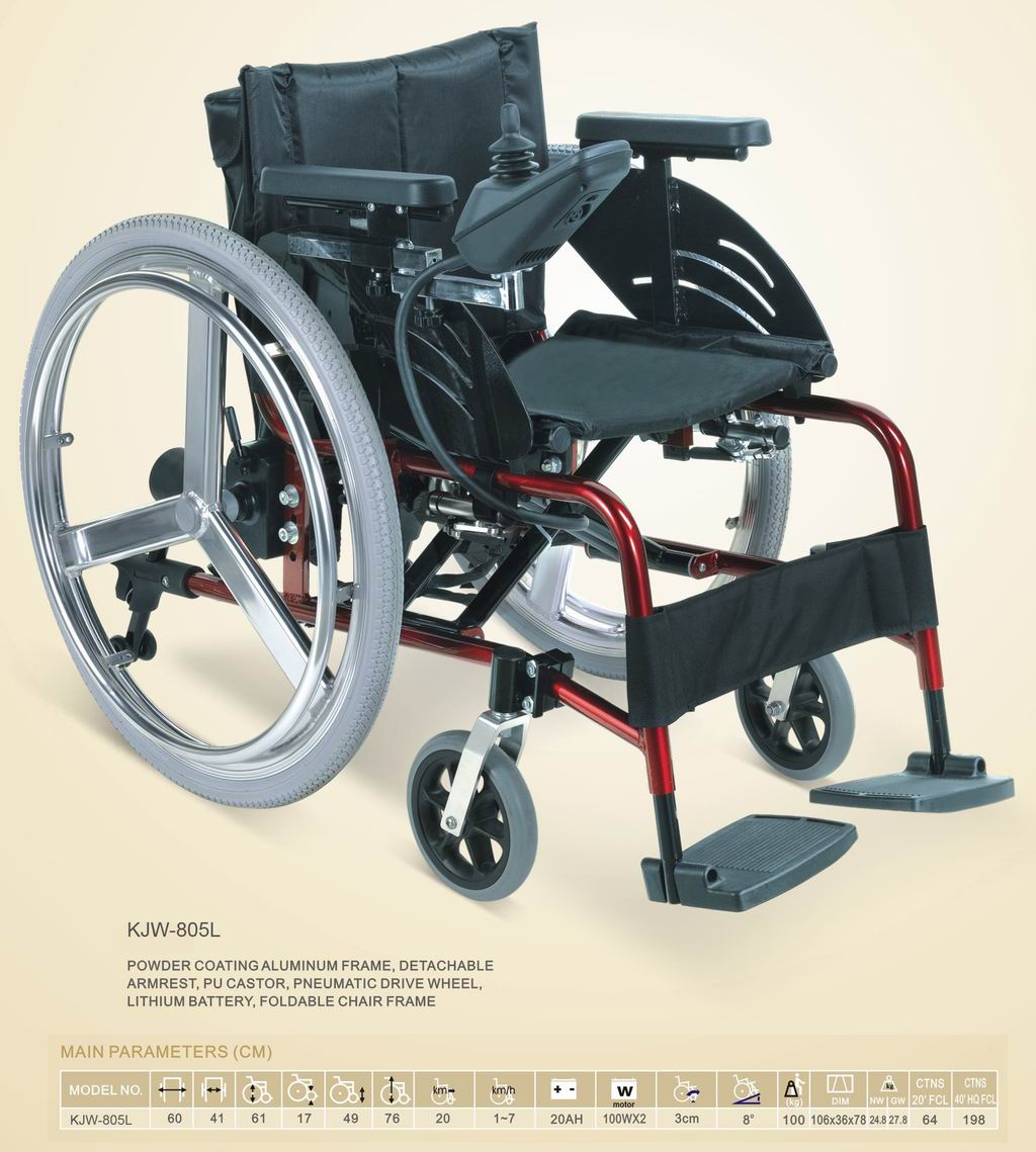 Lethium Battery Operated Small Electric Wheelchairs For