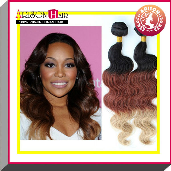 100 Virgin 3 Tone Color Ombre Hair Hairextension 13327 Buy