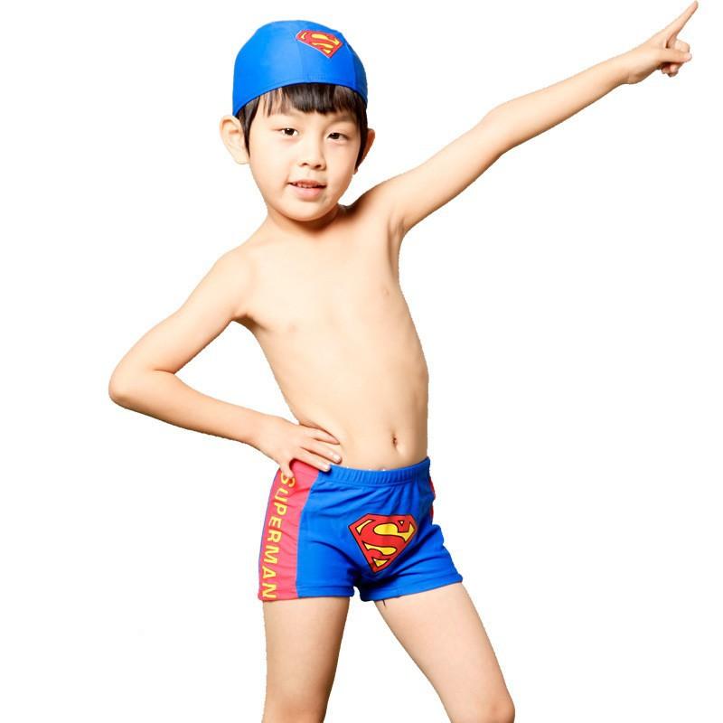 2014new малыш мальчик купальник Купальники Купальник Купальник мальчик большой мальчик купальник плавать стволы Супермен мыс