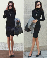 Женское платье Women's turtleneck long-sleeve basic women winter dress