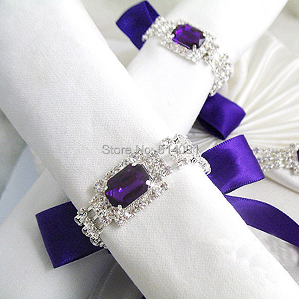 Details Beautiful Vintage Style Sparkling Gemstones Napkin Rings Add A Touch Of Glamour To Your Weddings