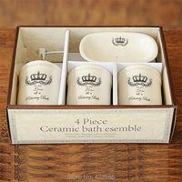 Zakka стиль керамики ремесло санитарные изделия 4 предметов с высоким качеством Корона шаблон, #91002