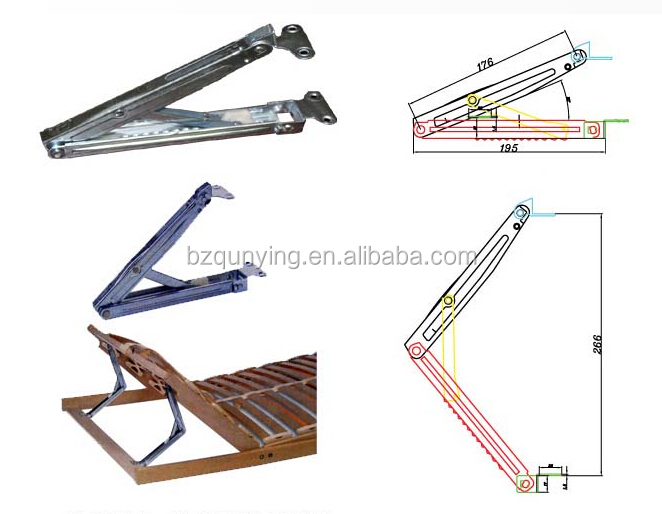 Folding Table Hinge Folding Bed Bracket Hinge View Hydraulic Bed Hinge Qunying Product Details