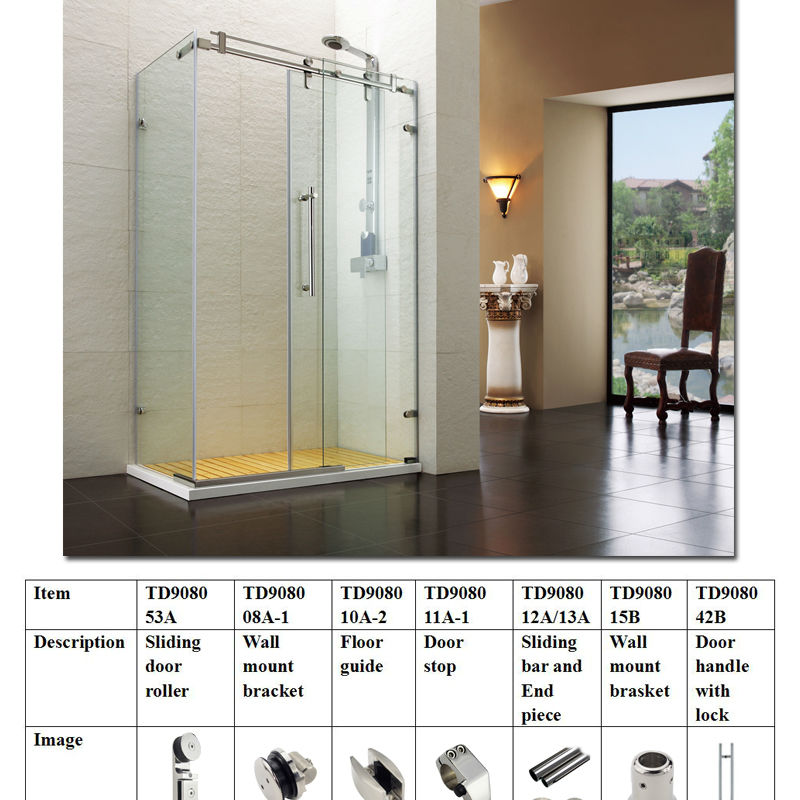 stainless steel sliding glass shower door wheel