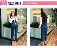 беременных женщин мода свободные джинсовые Комбинезоны суспендер брюки