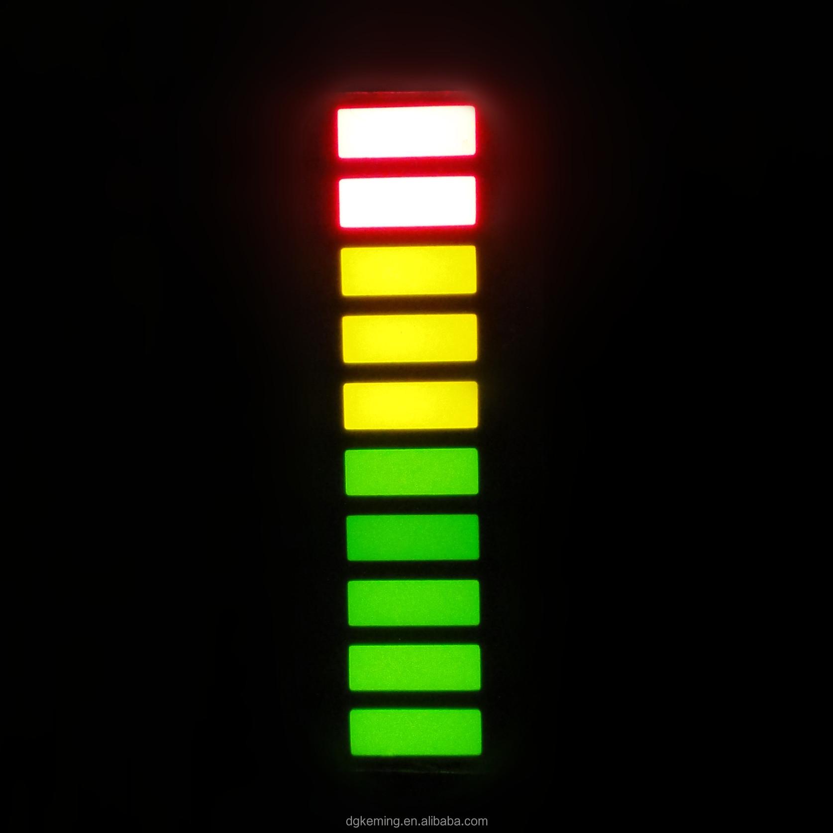 rgb led bar 10 segment display triple 3 colors graph led bar