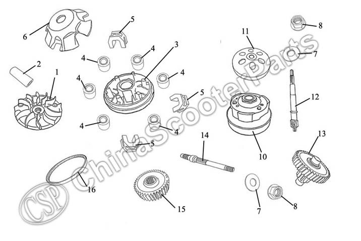 2000Rpm Torque Clutch Spring Gy6 125 150 1P52Qmi 1P57Qmj