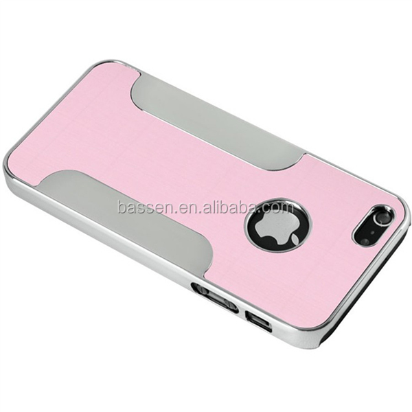 For iphone 5s case metal brush chrome case