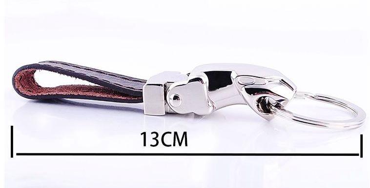 Женская одежда из кожи High Quality 2pcs/lot Leather key chain jaguar leopard head keychain trinket for men jewelry keychain