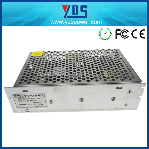 8 year manufacture factory/high voltage switching power supply/power supply lcd tv 12V 25A/universal power supply for tv