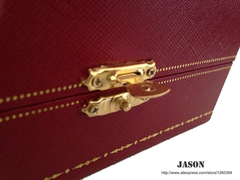 Смотрите коробки - роскошные часы овальной формы окна высокого качества Кожаный Часы