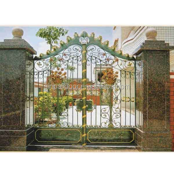 main house wrought iron entrance garden fence arch grill gate design buy main house iron gate. Black Bedroom Furniture Sets. Home Design Ideas