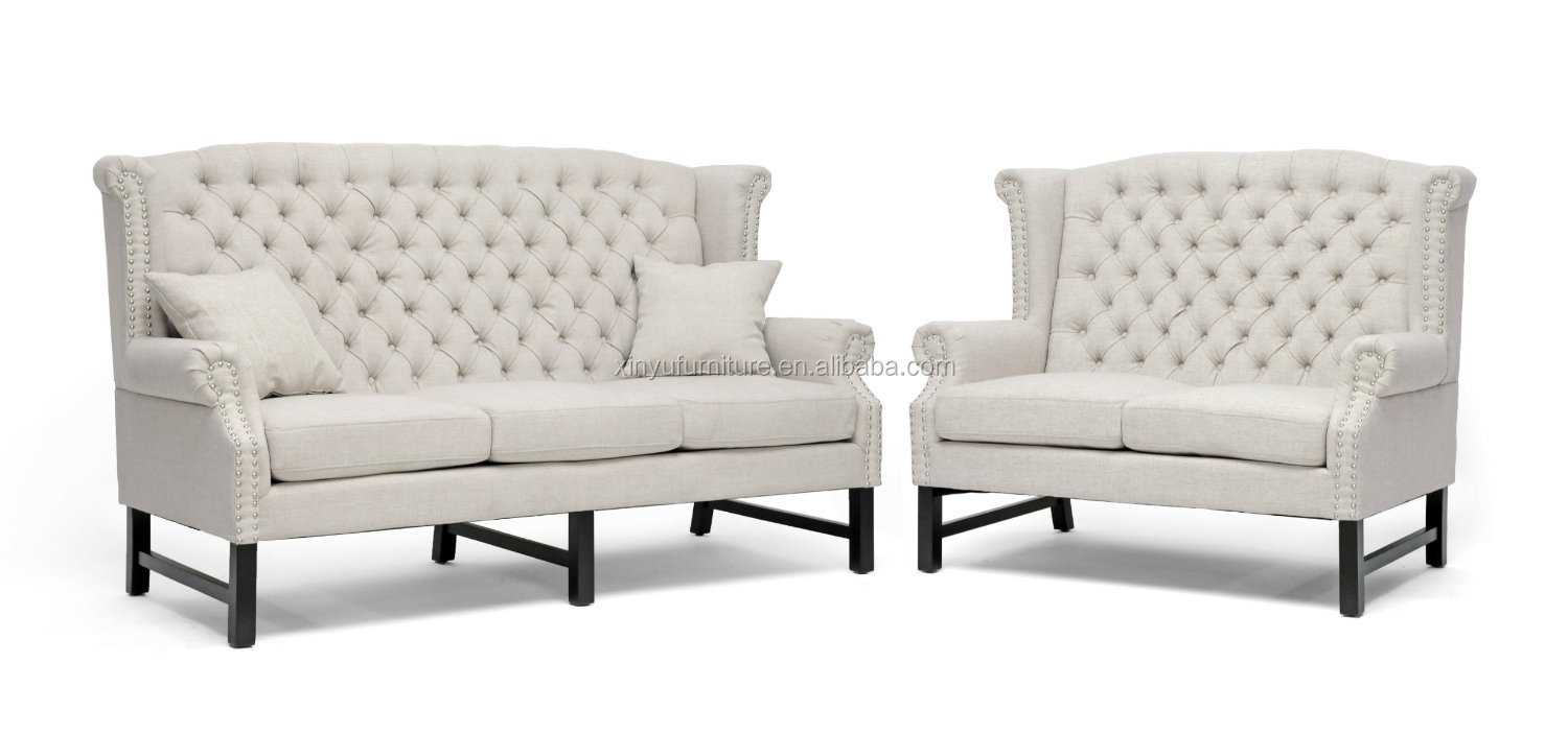 High Quality White Fabric Loveseat For Wedding Furniture