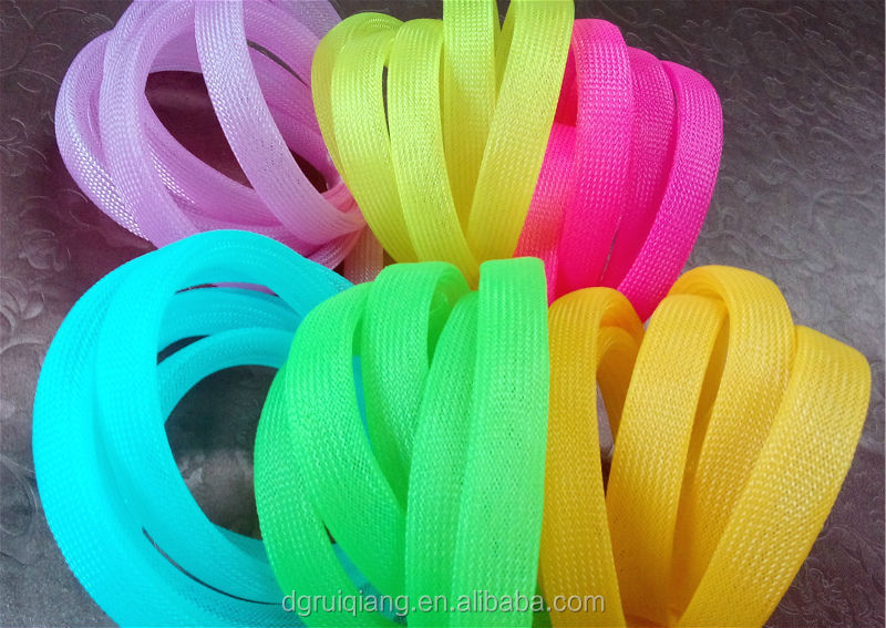 PET / Nylon Multifilament Expandable Flexible Braided Sleeving Cable Mesh Protection Sleeve