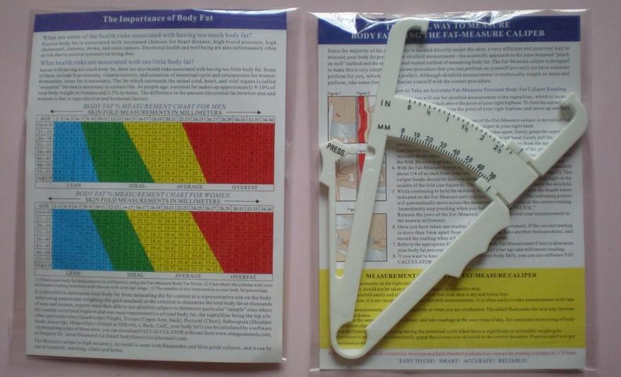 1 יח ' גוף שמן Caliper הבוחן אנלייזר למדידת תרשימים כושר לשמור על הבריאות סלים חם!