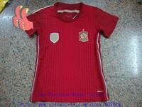 Мужская футболка для футбола A+ Spain New Women Spanish Soccer Jersey Brand Cheap Lady Kits Custom Name Torres Mata Fabregas Iniesta David Villa Xavi