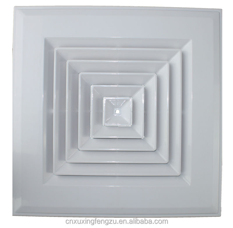 Square Ceiling Decorative Air Vent Cover Plastic Diffuser
