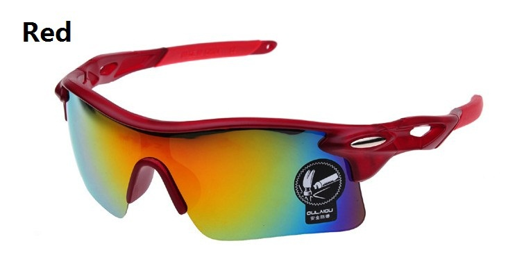 2014 New Brand Designer Red Cycling Glasses Men Women Outdoor Bike