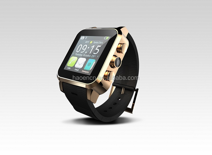 Android Smart Watch 2014 with GPS Watch Phone Android 3G Bluetooth Smartwatch Leather Strap Metal Steel Watch