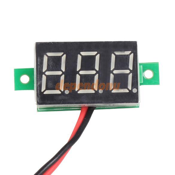 Mini DC 2.5-30V Red LED Panel Voltage Meter 3-Digital Display Voltmeter