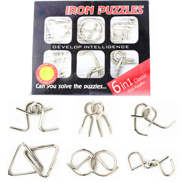 Metal Brain Teaser Puzzles Solutions Metal Puzzles Brain Teaser