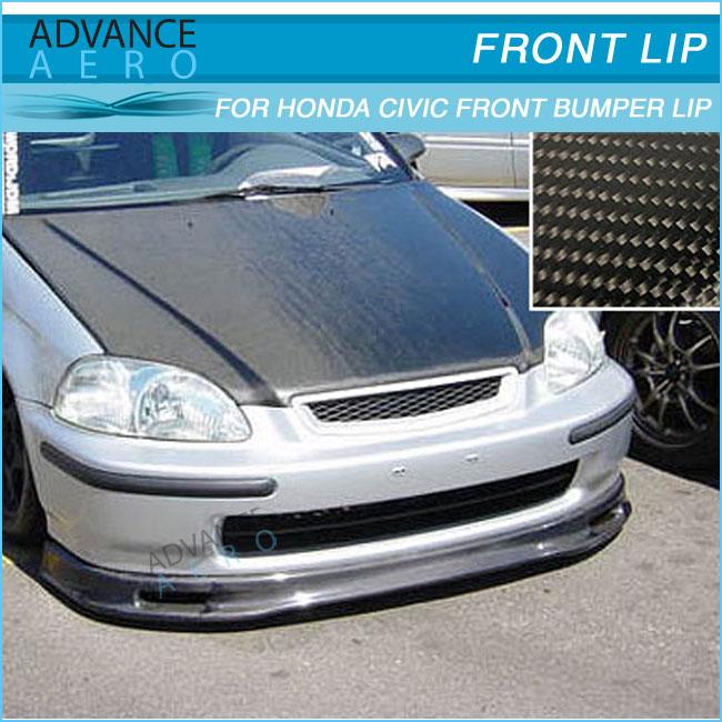 For 96-98 Honda Civic Ek Ek9 Carbon Fiber Spoon Style Cf ...