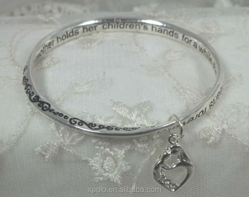Mother Sentiment Bracelet sentiment message bangle