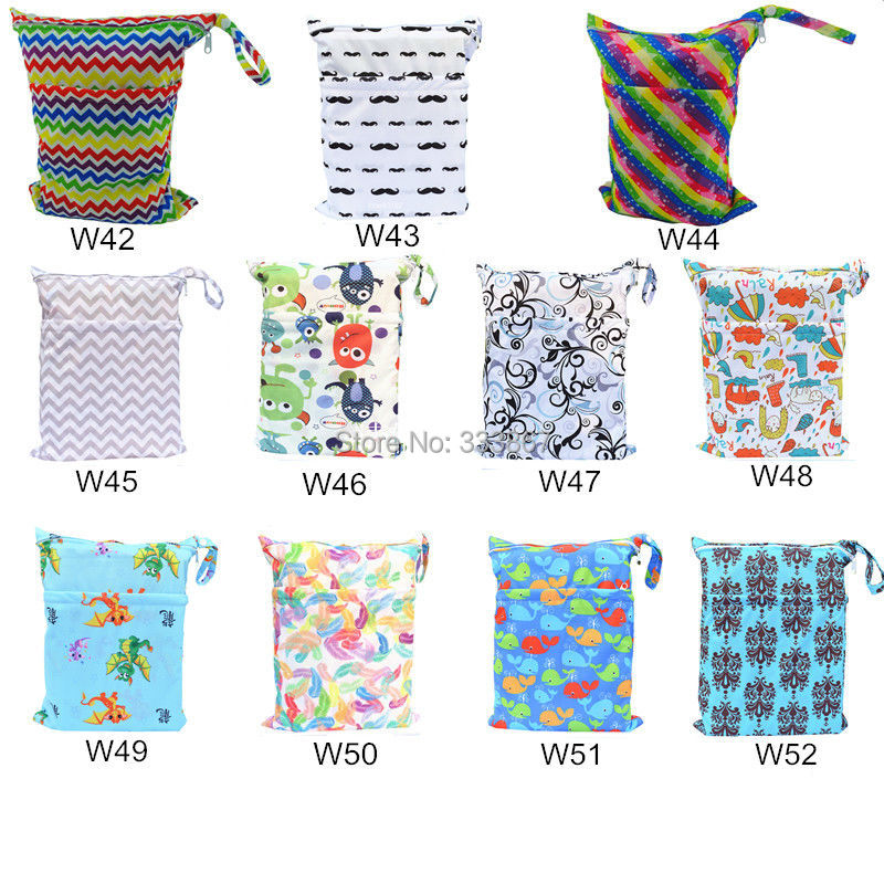 1  Design Wet /Dry Bag, With Two Молнияed Baby Diaper Bag, Nappy  Bag, Waterproof, Reusable, Owl&Tree