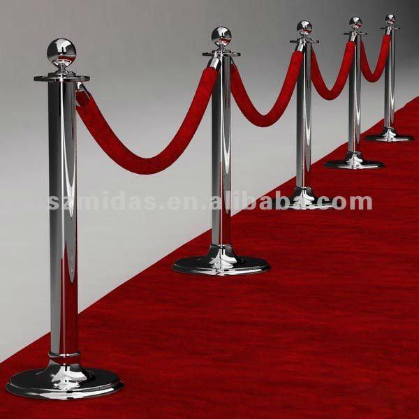 Red Carpet Chandelier: Oscar Deluxe Allée Chrome Chandelier, Red Carpet Stanchion