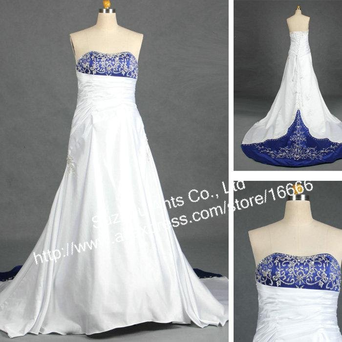 Royal Blue And Silver Wedding Dress Images
