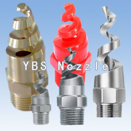 New 1pc New Stainless Steel Spiral Cone Spray Nozzle 1 4