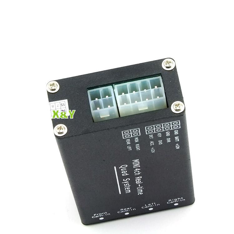 Tout autour de contrôleur vidéo boîte. split, boîte pour 4 caméra vidéo rca commutateur automatique( xy- 7028)