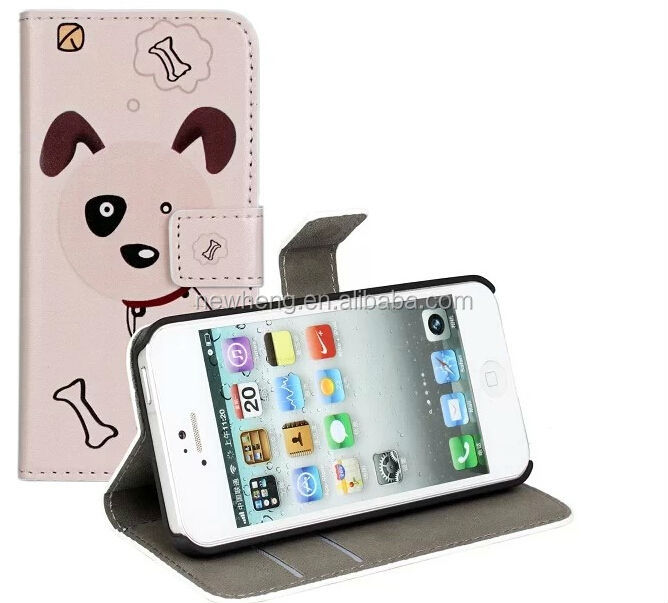 Customed leather case for iphone 5s, flip case for iphone 5s, for iphone 5s leather case