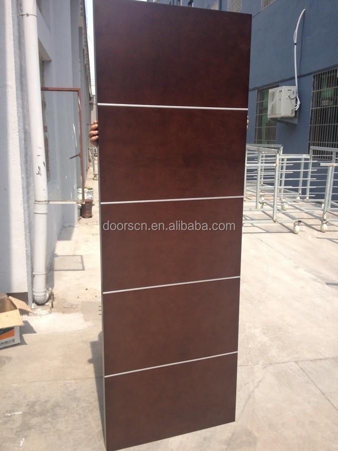 Chinese solid wood swing door semi solid core view veneer for Solid core flush door