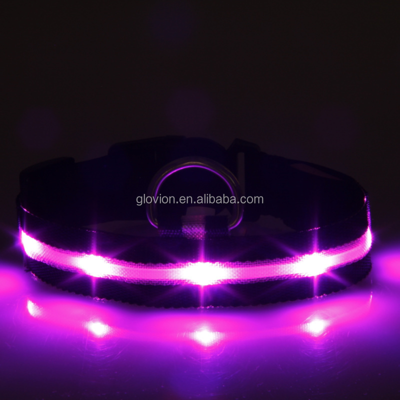 High light glow led collar Green led pet collar safety lighting dog collar for tracking