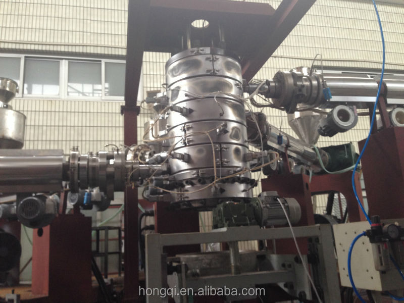 three five layer co extruding POF heat shrink film extrusion blowing machine
