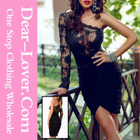 2015 wholesale Sexy young girl Lace Bodice cocktail dresses short black