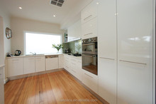 Luxury & contemporary High glossy white lacquer kitchen cabinets - Foshan Candany furniture