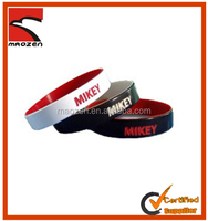 Factory direct dual layer nike silicone wristband