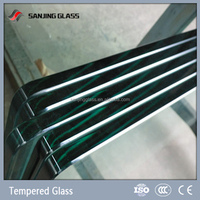 Tempered large glass sheets