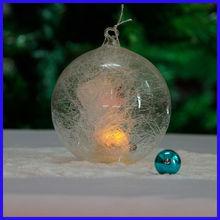 Beautiful Clear Fashionable Spun Glass Ball Sets with Led Light
