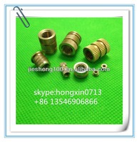 High quality Brass knurled nuts for plastic made in China