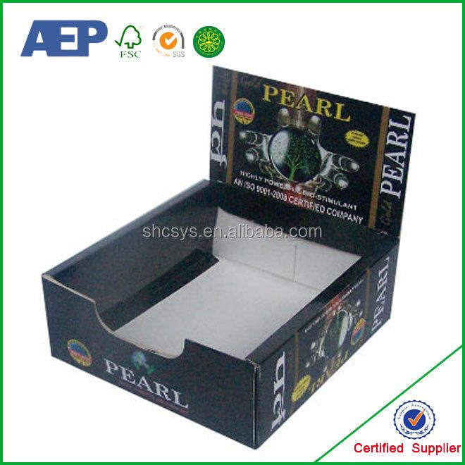 Lollipop Template Small Cardboard Display BoxesCounter Box