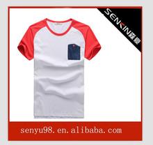 popular tshirt with pocket new design tshirt screen printed tshirts