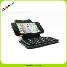 Popular mini wireless keyboard for iPhone 5 5G with stand and pouch, mini keyboard for iphone, mini keyboard for smartphone
